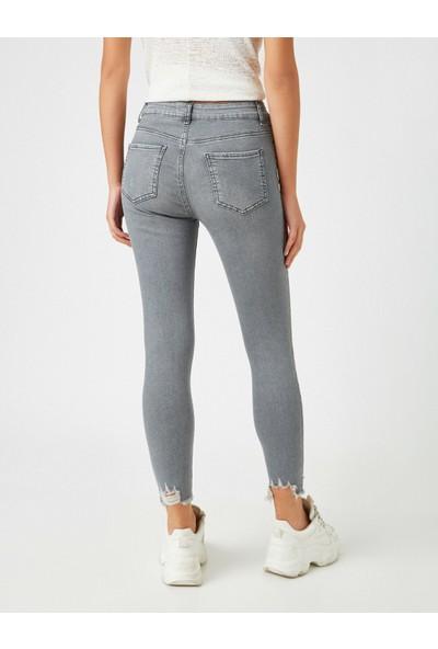 Koton Kadın Pamuklu Skinny Yüksek Bel Jean