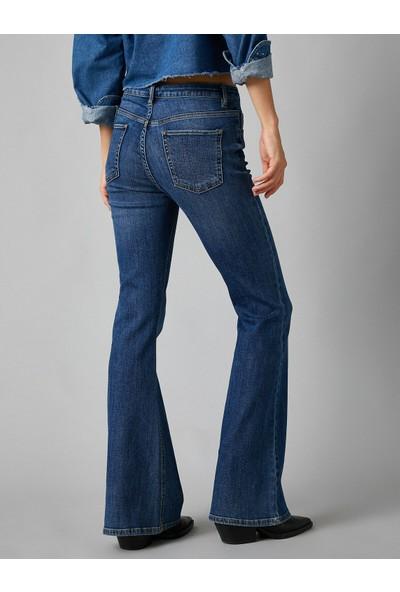 Koton Kadın Yüksek Bel Genis Paça Jean