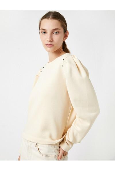 Koton Kadın Zimbali Balon Kol Sweatshirt