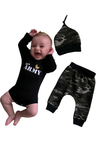Minigo Kamuflaj 3lü Bebek Takım