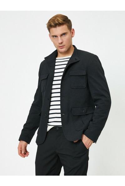 Koton Erkek Cep Detaylı Düğmeli Blazer Ceket