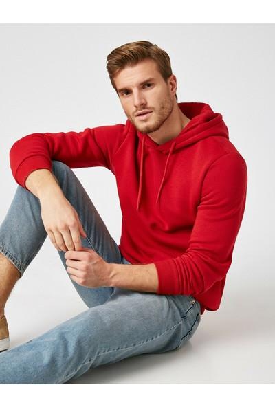 Koton Erkek Kapüşonlu Uzun Kollu Sweatshirt