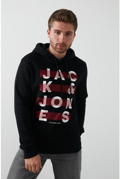 Jack & Jones Core Jcojumbo Baskılı Kapüşonlu Sweat Erkek 12182887