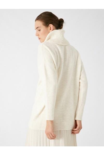 Koton Kadın Boğazlı Uzun Kollu Basic Tunic