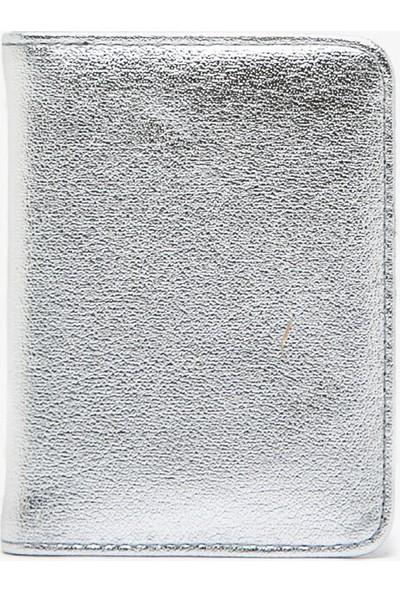 Koton Kadın Deri Görünümlü Metalik Cüzdan