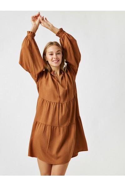 Koton Kadın Uzun Kollu Kısa Elbise