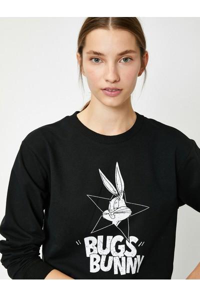 Koton Kadın Warner Bros Lisanslı Bugs Bunny Sweatshirt