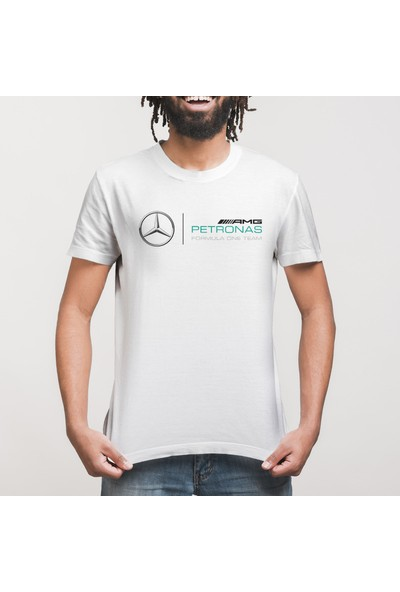 Crazy Mercedes Petronas Team Logo Erkek Tişört