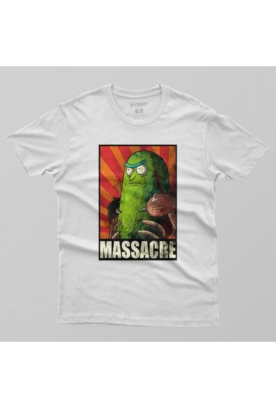 Crazy Rick And Morty Massacre Erkek Tişört