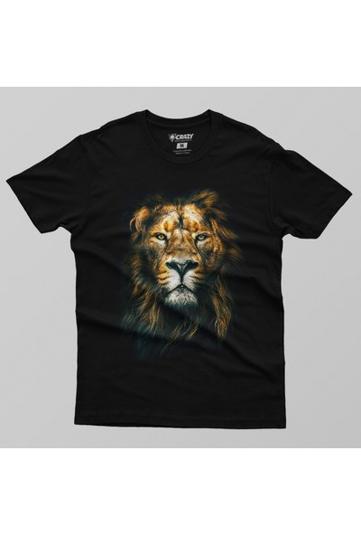 Crazy Lion Face Erkek Tişört
