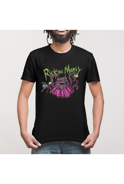 Crazy Rick And Morty Monster Slime Erkek Tişört