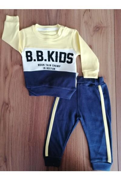 Beyaz Bebek Parçalı Kids Takım-Sarı