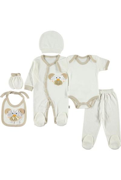 Civil Baby Bebek 6'lı Zıbın Seti Yenidoğan Kahverengi