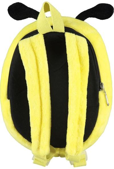 Civil Peluş Arı Sırt Çantası Sarı 5408