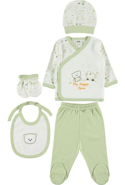 Civil Baby Erkek Bebek 5'li Zıbın Takımı Yenidoğan Yeşil
