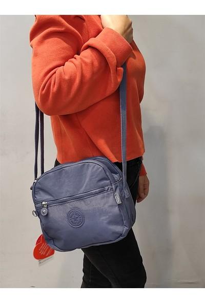 Smart Bags 3058 Lacivert Krinkıl Çapraz Çanta