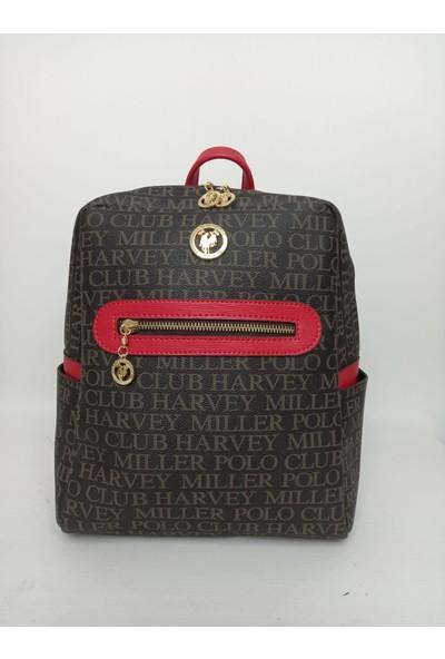 Harvey Miller Polo Club Harvey Miller Polo Clup Kahve Kırmızı Kadın Sırt Çanta