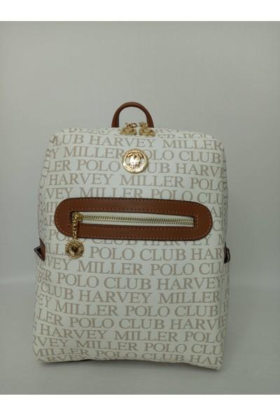 Harvey Mi̇ller Polo Clup Harvey Miller Polo Clup Bej Taba Kadın Sırt Çanta