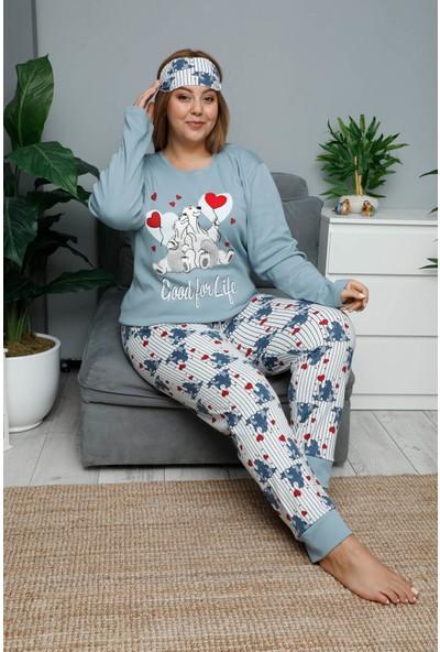 Mossta Kışlık Uzun Kol Büyük Beden Pijama Takımı