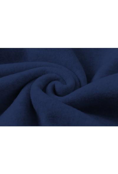 Tshirthane The Last Of Us Part 2 Logo Baskılı İndigo Mavi Lacivert Erkek Örme Sweatshirt Uzun kol