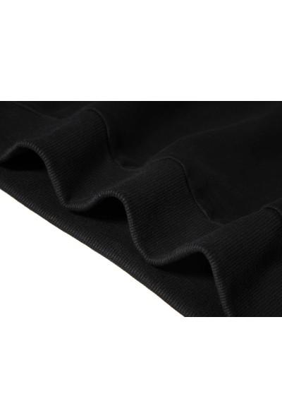 Tshirthane Chilling Adventures Of Sabrina Yazi 2 Baskılı Siyah Erkek Örme Sweatshirt Uzun kol
