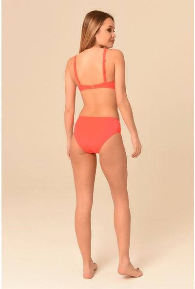 Aquaviva Kadın Nar Çiçeği Ayar Askılı Taş Detaylı Bikini Takımı