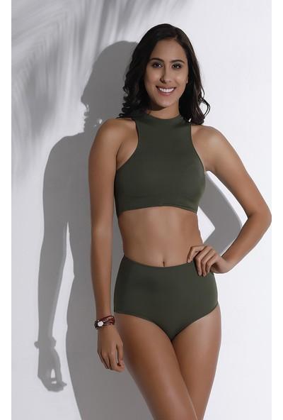 Aquaviva Kadın Haki Halter Bikini Takımı