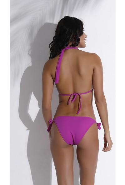Aquaviva Kadın Lila Boyundan Bağlı Üçgen Bikini Takımı