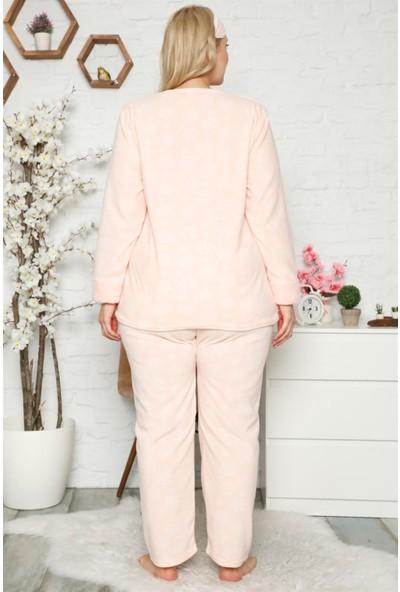 Akbeniz Welsoft Polar Kadın Büyük Beden Pijama Takımı 8119
