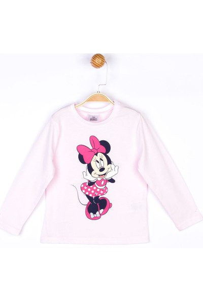 Minnie Mouse Disney Mickey Uzun Kol Tişört 18106