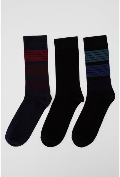 Defacto Erkek Desenli Soket Çorap 3'lü