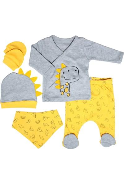 Nonna Baby Dinozorlu Desenli Erkek Bebek 5'li Hastane Çıkışı