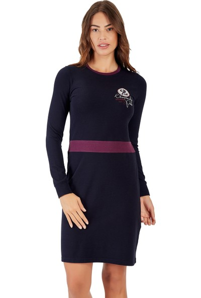 Galvanni Kadın Mavi Elbise