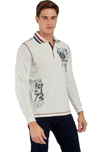 Galvanni Erkek Beyaz Sweatshirt