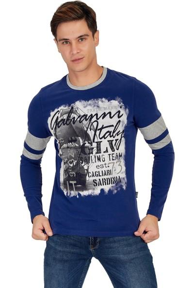 Galvanni Erkek Mavi T-Shirt