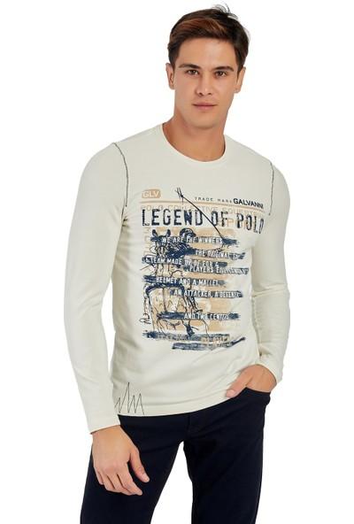 Galvanni Erkek Beyaz T-Shirt