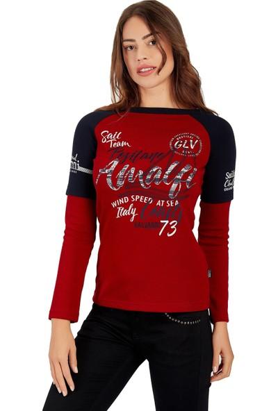 Galvanni Kadın Kırmızı Sweatshirt