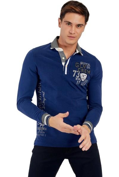 Galvanni Erkek Mavi Sweatshirt