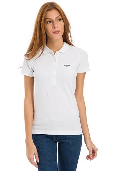 Galvanni Kadın Beyaz T-Shirt