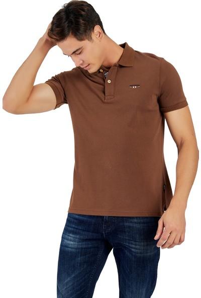 Galvanni Erkek Kahverengi Polo Yaka T-Shirt