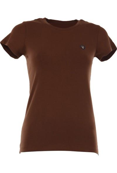 Galvanni Kadın Kahverengi T-Shirt
