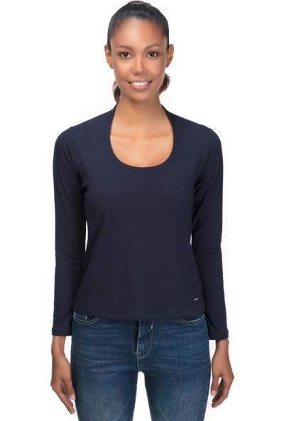 Galvanni Kadın Lacivert T-Shirt