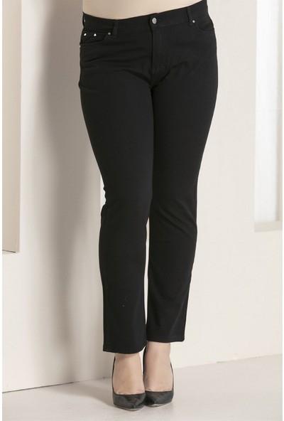 Günay Kadın Pantolon Rg1029Yk Kot Yüksek Bel Düz Paça