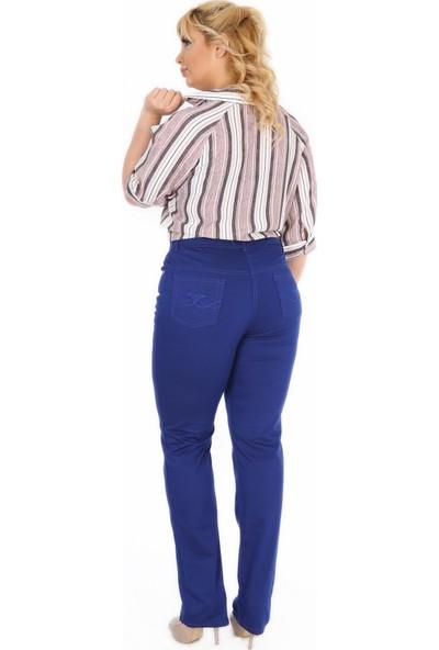 Günay Kadın Pantolon Rg1029P Kanvas Yüksek Bel Düz Paça