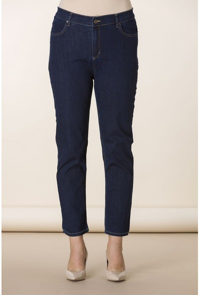 Günay Kadın Pantolon Rg1400 Kot Yüksek Bel Düz Paça