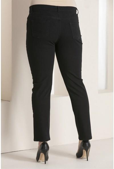 Günay Kadın Pantolon Rg1029Kb Kot Battal Yüksek Bel Düz Paça