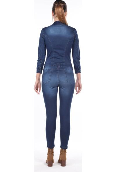 Markapia Woman Jean Kadın Tulum Pantolon