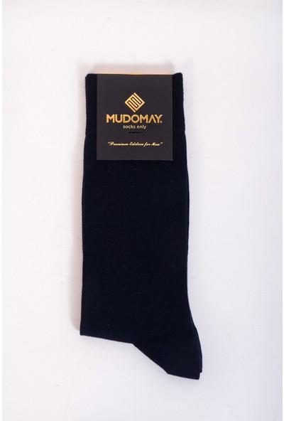 Mudomay 6'lı Bambu Yün Kışlık Lacivert Erkek Çorap