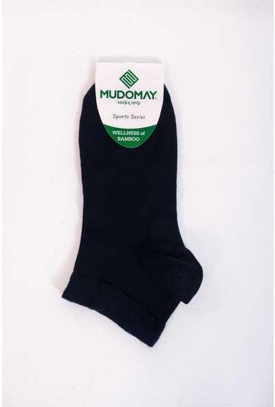 Mudomay 6'lı Bambu Patik Lacivert Erkek Çorap