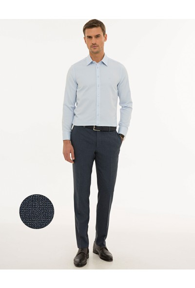 Pierre Cardin Erkek Açık Lacivert Slim Fit Pantolon 50229809-VR059